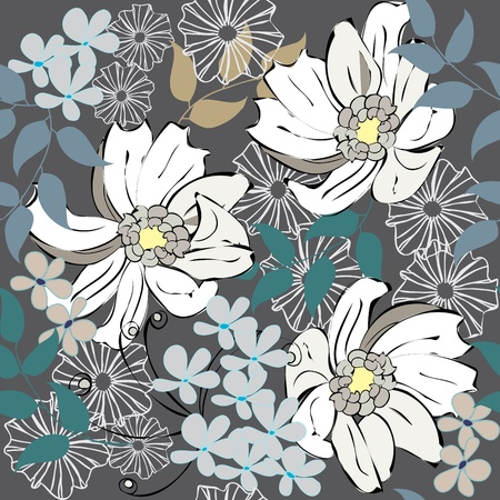 Abstract floral seamless pattern background Stock Vector - 10297014