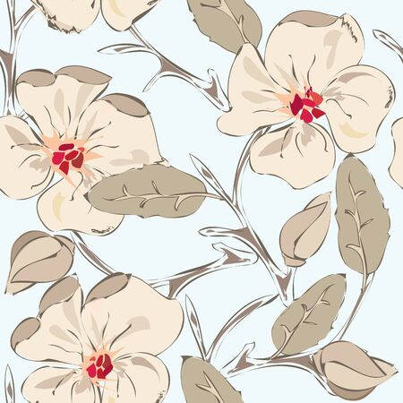 textile image: Floral seamless pattern