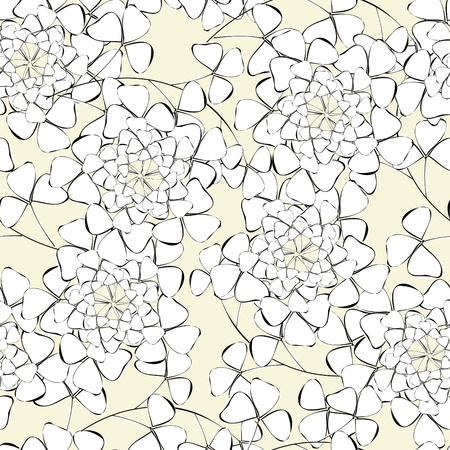 material flower: Abstract flower seamless pattern background