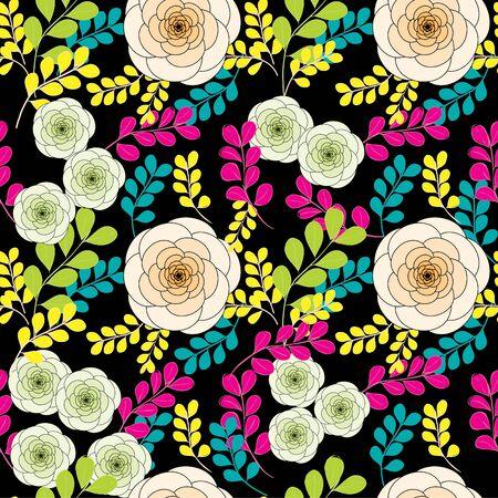 Abstract flower nahtlose Muster Hintergrund Vektorgrafik