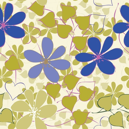 Abstract flower seamless pattern background Stock Vector - 10299846