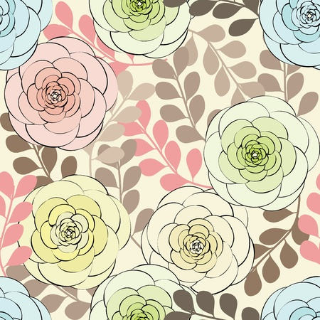 Abstract flower seamless pattern background Stock Vector - 10318465