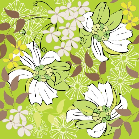 Abstract floral seamless pattern background Stock Vector - 10318471