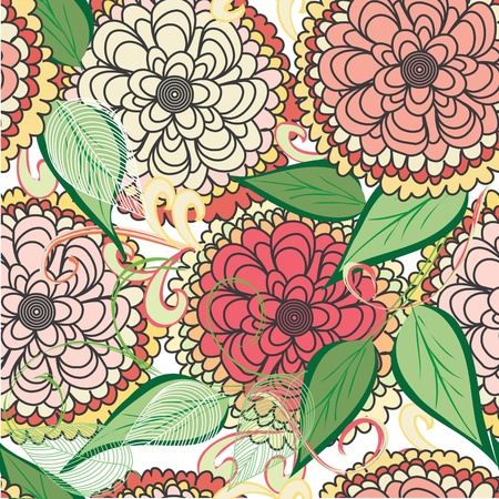 Summer floral seamless pattern background Stock Vector - 10318472