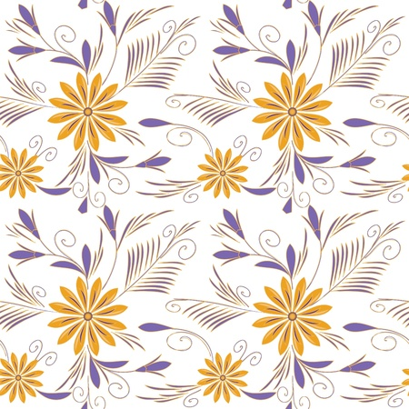 Flower seamless background Stock Vector - 10328251