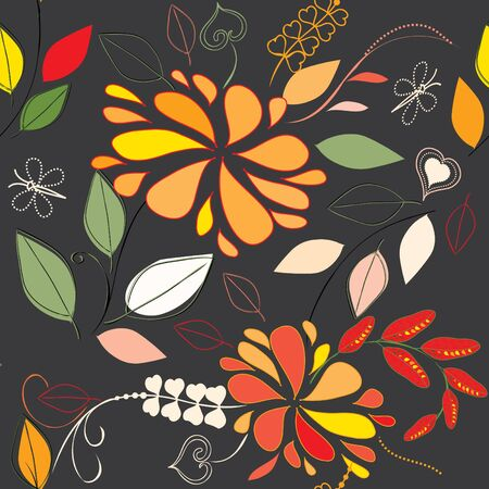 Abstract flower seamless pattern background Stock Vector - 10363223