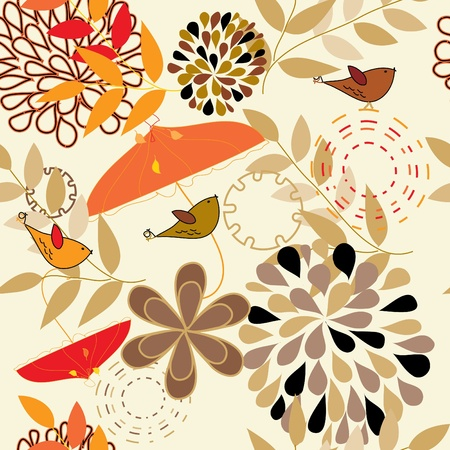 Abstract autumn seamless pattern background Stock Vector - 10363225