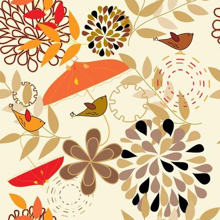autumn fashion: Abstract autumn seamless pattern background