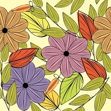 wallpaper vibrant: Floral seamless pattern