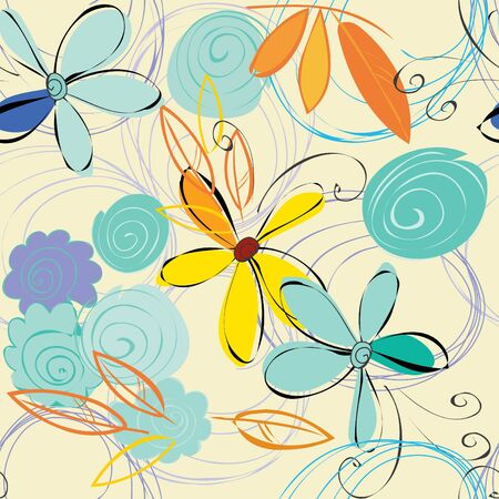 Abstract flower seamless pattern background Stock Vector - 10398200