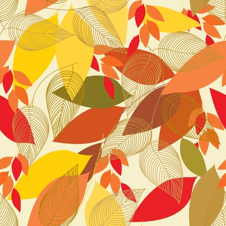 heather: Abstract foliage seamless pattern background
