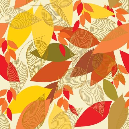 autumn fashion: Abstract foliage seamless pattern background