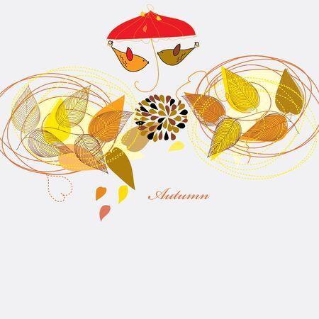 berg: Abstract autumn  leaf background. Banner. Illustration