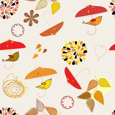 berg: Abstract autumn seamless pattern background