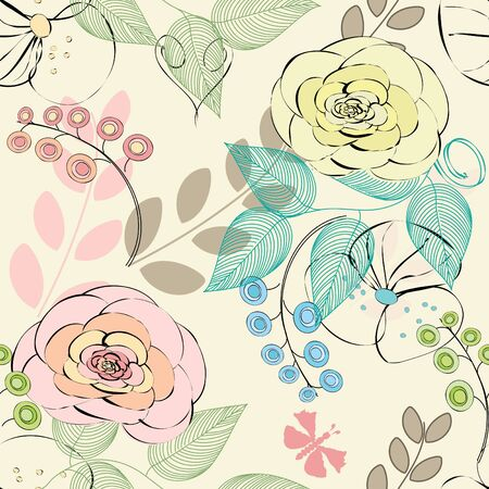 Abstract flower seamless pattern background Stock Vector - 10518011