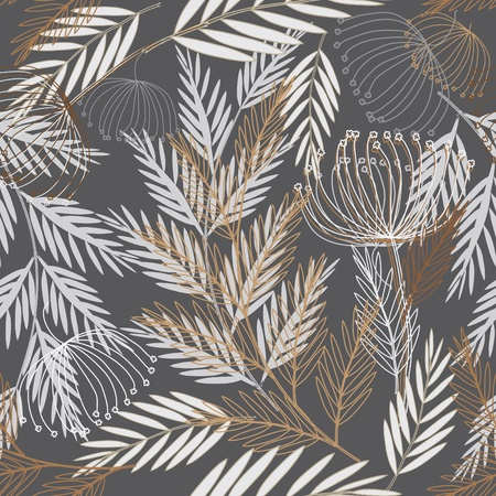 fabric design: Abstract flower seamless pattern background