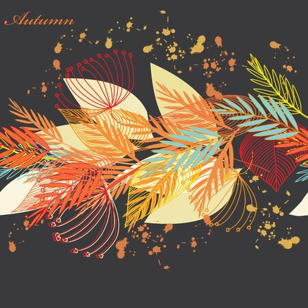 Abstract autumn  leaf background. Banner. Vector