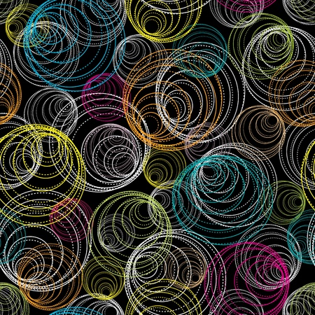 wallpaper rings: Abstract geometric background. Seamless pattern.
