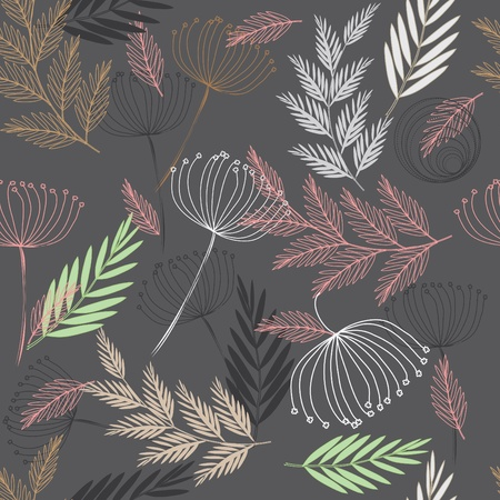Abstract floral seamless pattern background Vector
