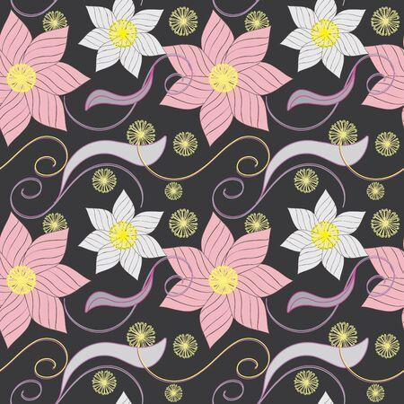Streszczenie kwiat bezszwowe tło wzór Ilustracje wektorowe
