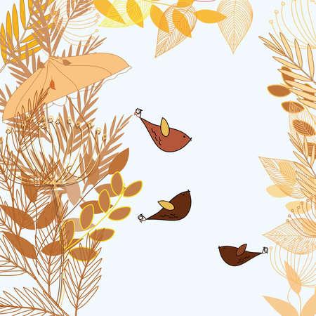 berg: Abstract autumn  foliage background. Banner. Illustration