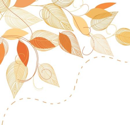 Abstract autumn  foliage background. Banner. Illustration