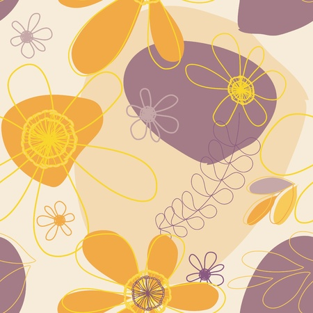 Abstract flower seamless pattern background Stock Vector - 10666364
