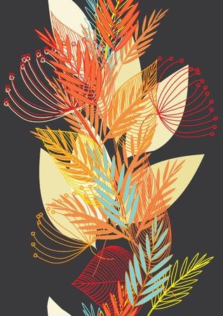 Abstract autumn  leaf background. Banner. Illustration
