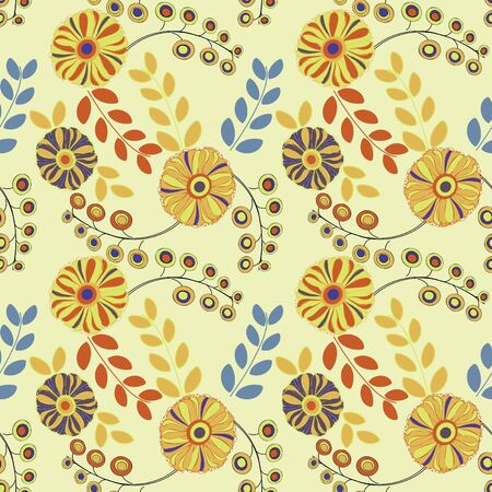 Abstract flower seamless pattern background Stock Vector - 10756107