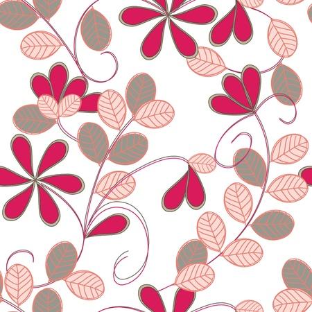 garnets: Floral seamless pattern