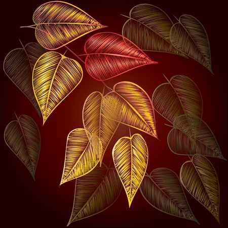 dearness: Abstract autumn  foliage background. Banner. Illustration