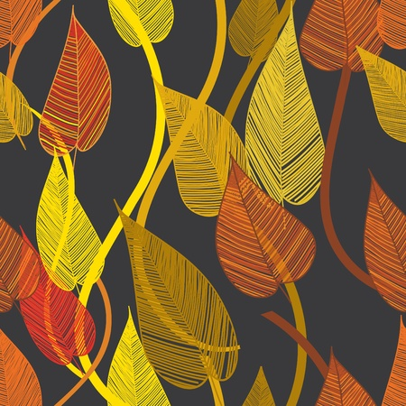 fondle: Abstract floliage seamless pattern background