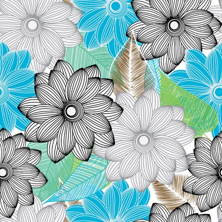 Abstract flower seamless pattern background Stock Vector - 10929147