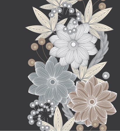 Abstract vertical flower seamless pattern background Vector