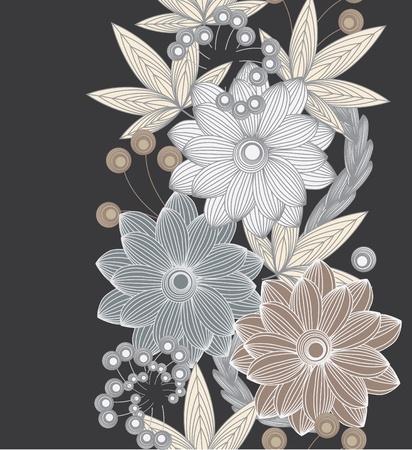 modern wallpaper: Abstract vertical flower seamless pattern background Illustration