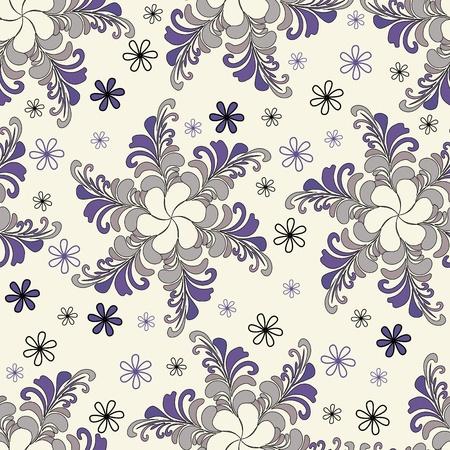 Abstract flower seamless pattern Hintergrund