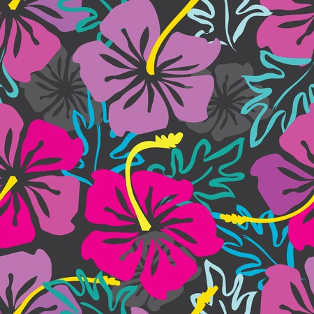 Abstract flower seamless pattern background Stock Vector - 10982710