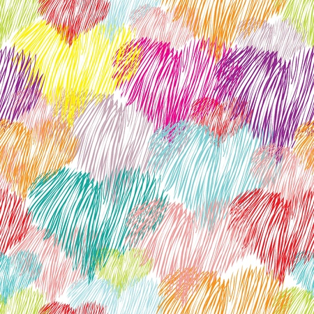 Abstract heart seamless pattern background Illustration