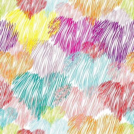 Abstract heart seamless pattern background Ilustracja