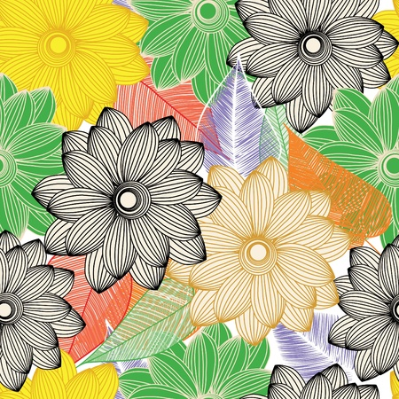 Abstract flower seamless pattern background Stock Vector - 10982728