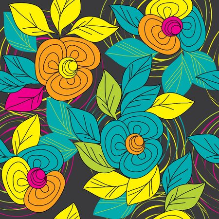 Abstract flower seamless pattern background Stock Vector - 10982732