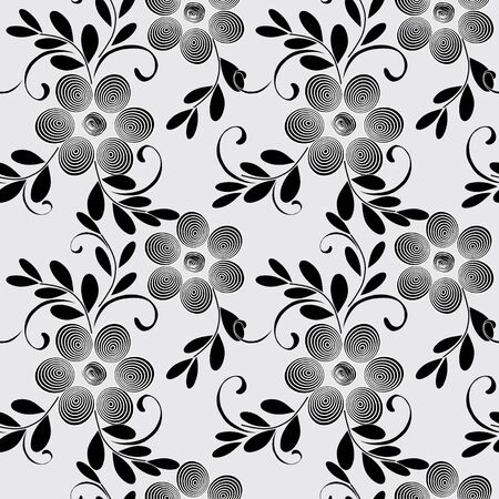 Abstract flower seamless pattern background Stock Vector - 10982740