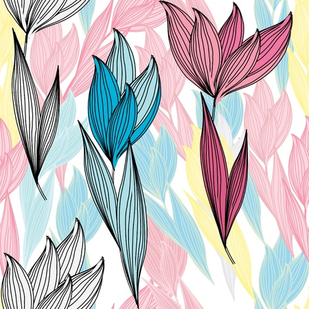 Abstract flower seamless pattern background Stock Vector - 11077618