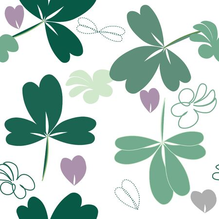 Abstract floliage seamless pattern background