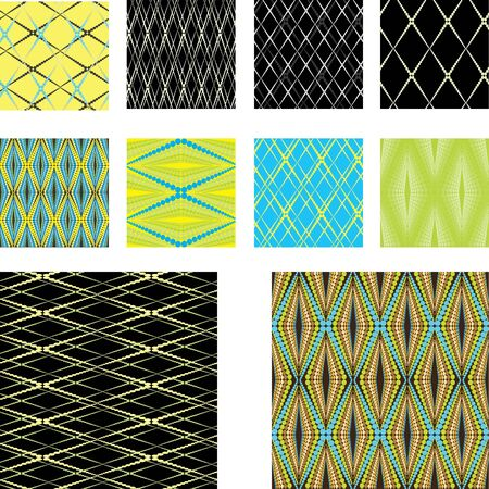 Seamless  vector pattern collection Vector