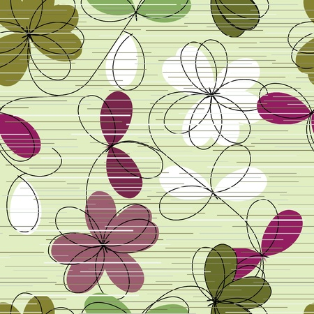 madras: Floral seamless pattern