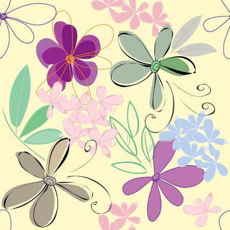 Abstract flower seamless pattern background Stock Vector - 11475815