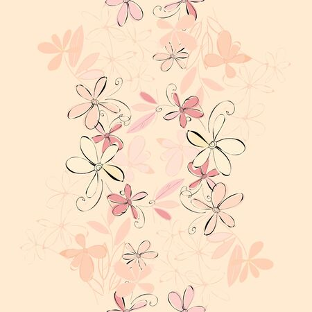endearment: Abstract vertical flower seamless pattern background Illustration