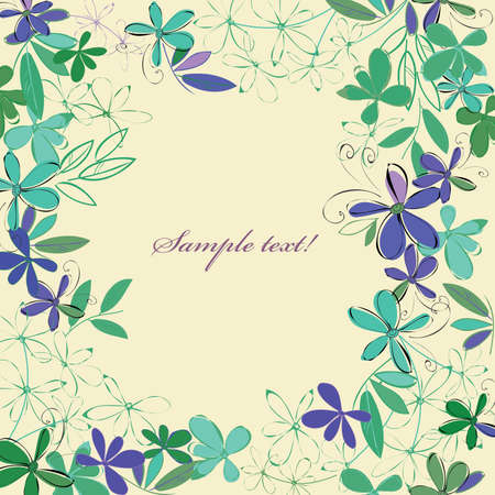 Abstract blue flower background. Banner. Ilustrace