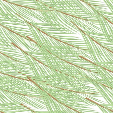 pine branch: Abstract pine branch seamless pattern background Illustration